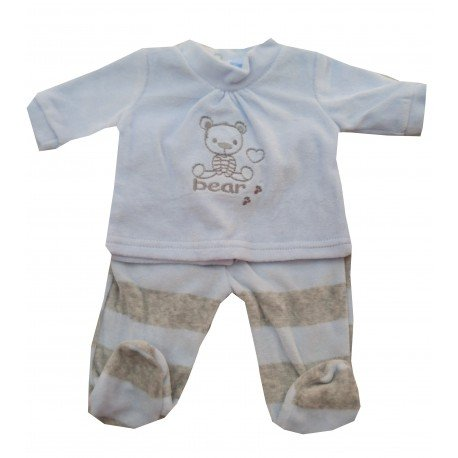 pijama bebe rayas celeste pillerias