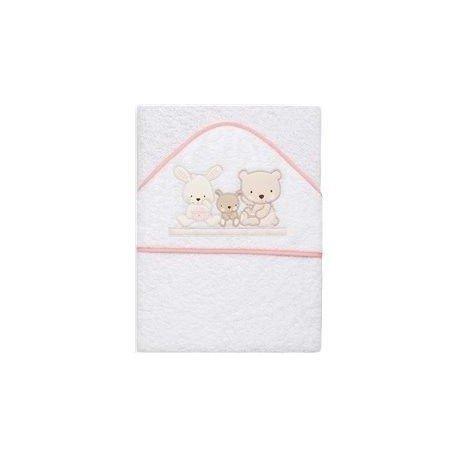 capa de baño blanca con dibujos