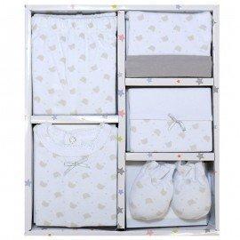 Pack regalo bebe 5 piezas nubes
