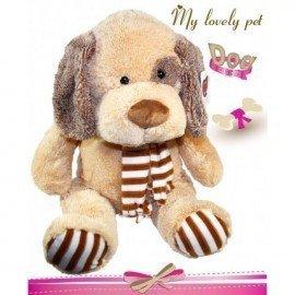 Peluche perro bufanda