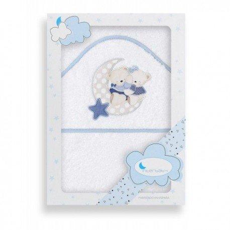 Capa baño osos amoroso blanca