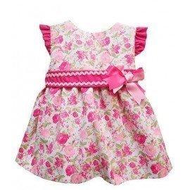 Vestido bebe flores rosas