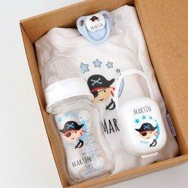 Cajita regalo bebé Pirata azul
