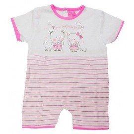 Pijama bebé rayas friends