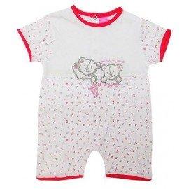 Pijama bebé rojo corazones