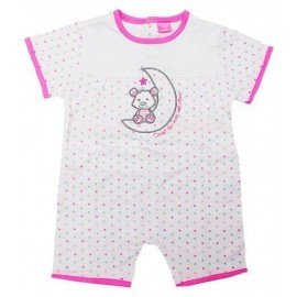 Pijama bebé estrellas rosa