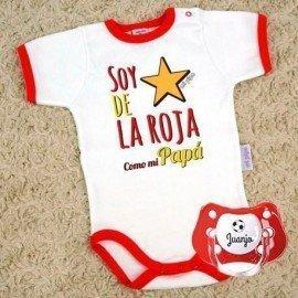 """Pack eurocopa """"De la roja como mi Papá"""""""