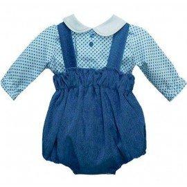 Ranita bebé y camisa azul