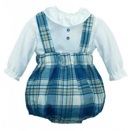 Ranita bebé cuadros azul