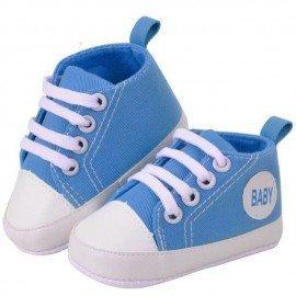 Zapatillas bebe de tela azules