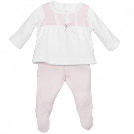 Conjunto bebé prematuro rosa París