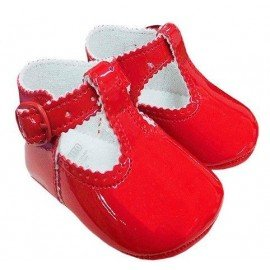 Zapatos bebe charol rojo