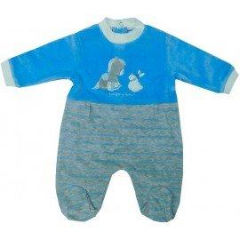 pijama invierno bebe enterizo azul