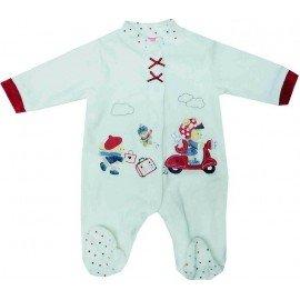Pijama invierno bebé Motocicleta