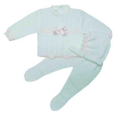 Conjunto 3 piezas lana rosa
