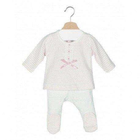 Conjunto bebé lunares prematuro