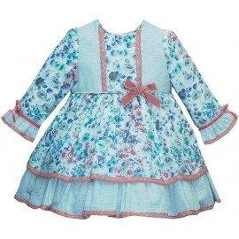 Vestido bebé tela flores Pizpireta