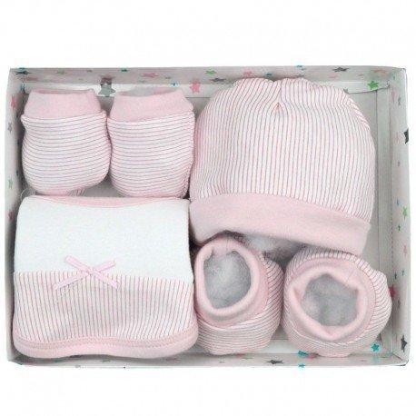 Pack 4 piezas recién nacido rayas