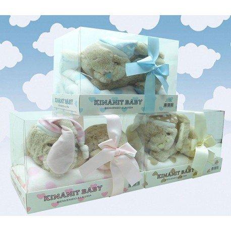 Conejo con manta regalo en caja