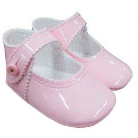 Zapatos bebe charol rosa