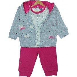 chandal bebe niña rosa 3 piezas