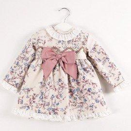 Vestido bebé cenefa flores