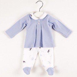 Conjunto polaina bebé coronitas