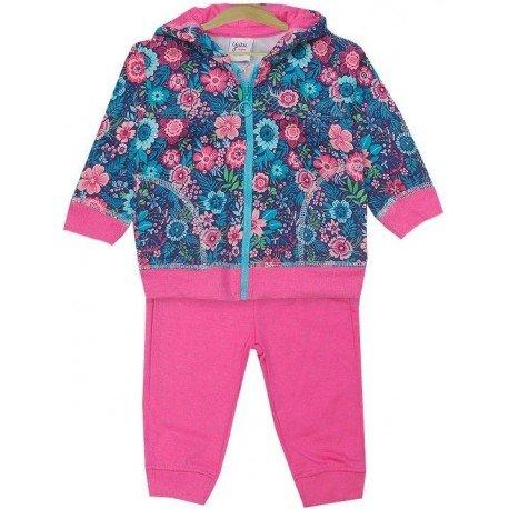 chandal rosa flores bebé