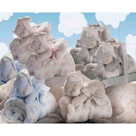Peluche oso dormilon con manta