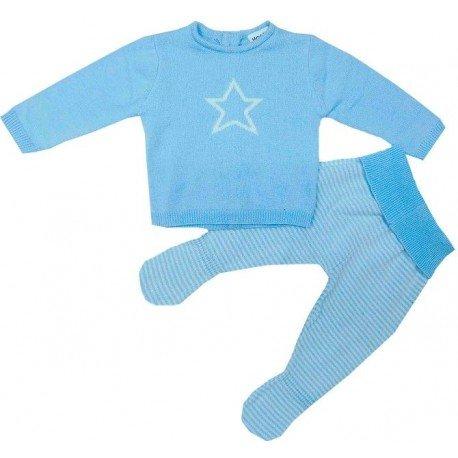 Conjunto punto bebé estrella