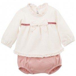 Conjunto bebé rosa calamaro