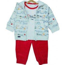Chándal bebé rojo tres piezas