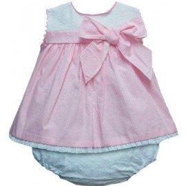 Jesusito bebé niña rosa Lunares