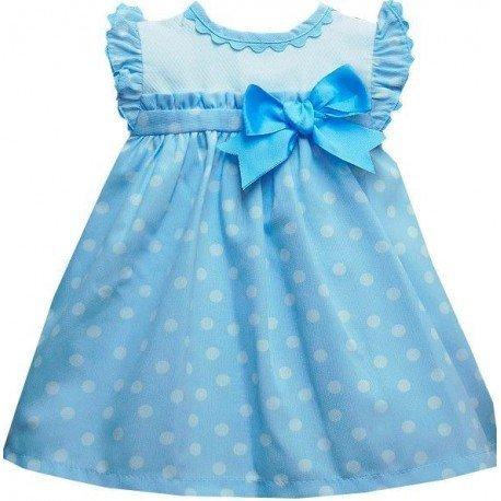 Vestido celeste para bebé niña 59e9fa949370