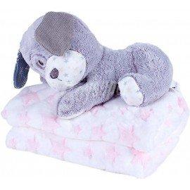 Peluche Perro con manta bebé
