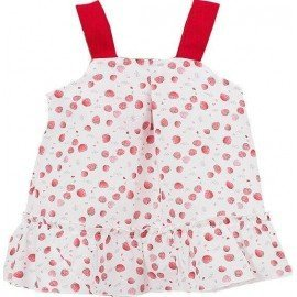 Vestido bebé Fresas