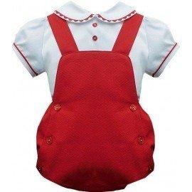 Conjunto bebe ranita roja y camisa