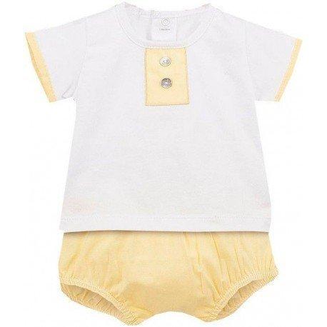 Conjunto bebé amarillo Lanos