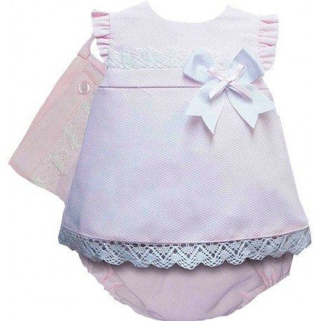 ba3880433 Jesusito de verano para bebé niña en piqué color rosa