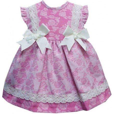 d75833287 Vestido para bebe verano en rosa con estampado floreal.