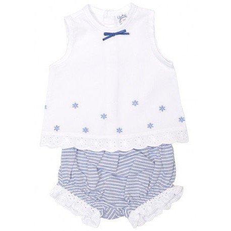 Conjunto bebé rayas azules