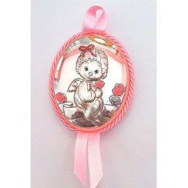 Medalla cuna bebé Ángelito Rosa