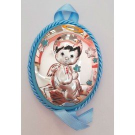Medalla cuna bebé Angelito Azul