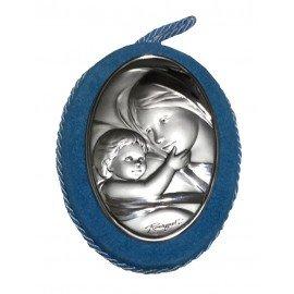 Medalla cuna ovalada Virgen