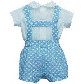 Peto bebé Azul con lunares