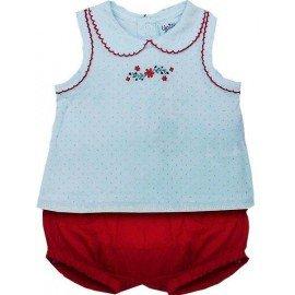 Conjunto bebé Flor Roja
