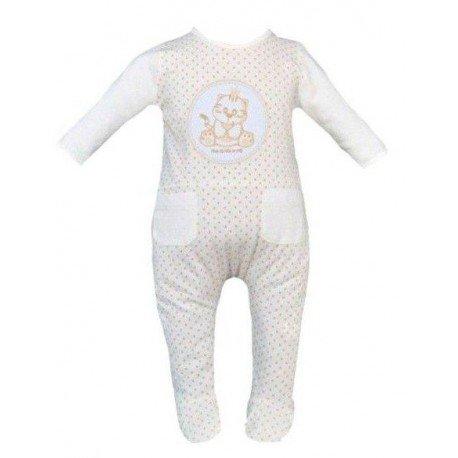 pijama bebe beige lunares pillerias