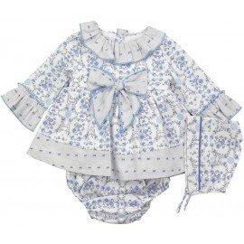 Jesusito bebé flores azules