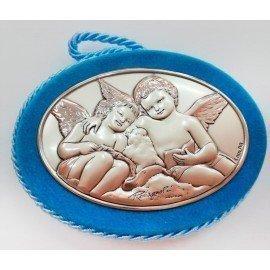 Medalla bebé ángeles azul
