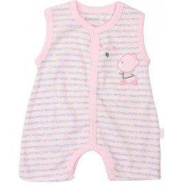 Pelele bebé rosa oso verano